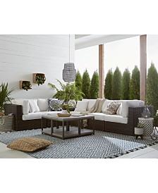 Viewport Outdoor 6-Pc. Modular Seating Set (2 Corner Units, 3 Armless Units and 1 Corner Table), Created for Macy's
