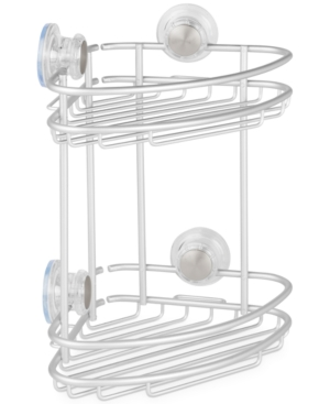 Interdesign Metro Turn-n-Lock 2-Tier Corner Shower Caddy Bedding