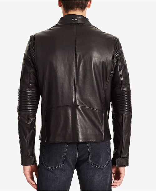 Hugo Boss Boss Men S Mercedes Benz Leather Jacket Coats Jackets