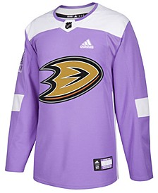 Men's Anaheim Ducks Authentic Hockey Fights Cancer Jersey