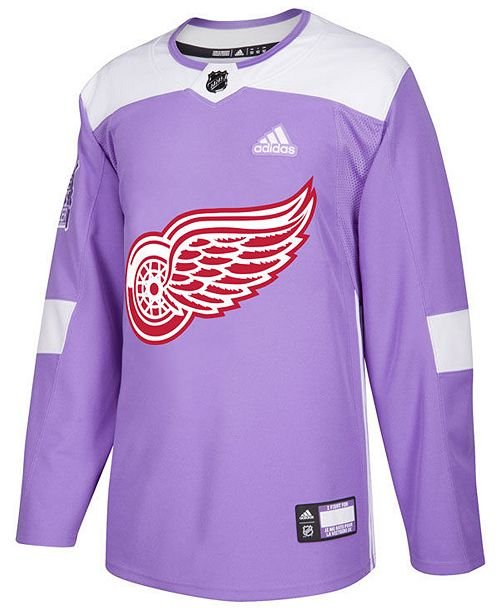 adidas Men's Detroit Red Wings Authentic Hockey Fights Cancer Jersey