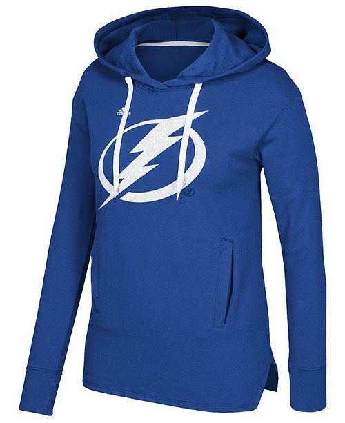 adidas Women's Tampa Bay Lightning Logo Shine Hooded Sweatshirt