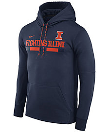 Nike Men's Illinois Fighting Illini Therma-Fit Sideline Hoodie