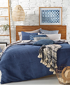 Tommy Hilfiger Blues Vintage Pleated Bedding Collection