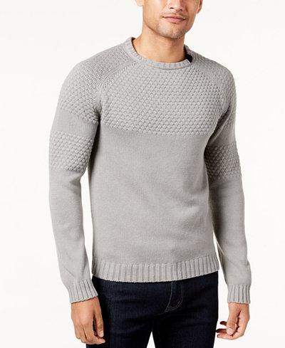 Armani Exchange Men's Textured Crew-Neck Sweater