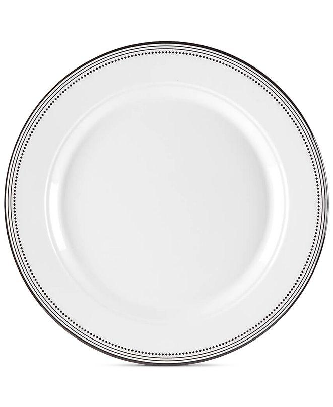 """Q Squared Classica In Black 10.5"""" Melamine Dinner Plates, Set Of 4"""