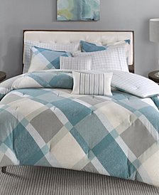 Madison Park Drew 7-Pc. Cotton Flannel Reversible Duvet Cover Sets