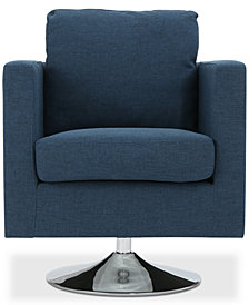 Torran Swivel Club Chair, Quick Ship