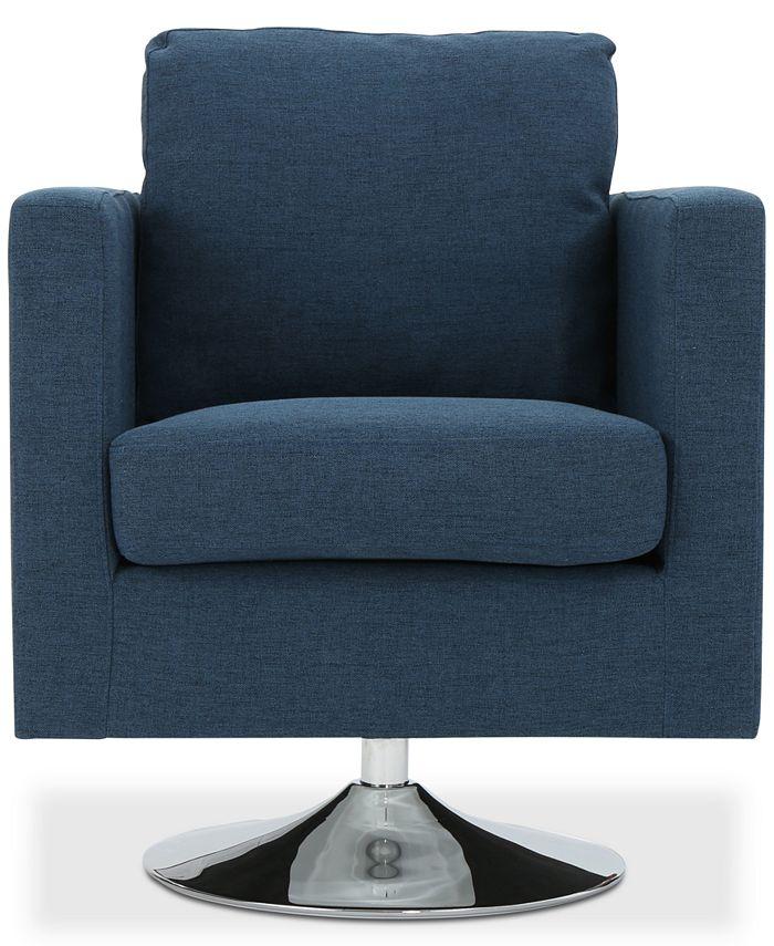 Noble House - Torran Swivel Club Chair, Quick Ship