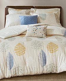 Madison Park Mina 7-Pc. Cotton Flannel Reversible Duvet Cover Sets