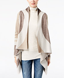 I.N.C. Petite Draped Cardigan, Created for Macy's