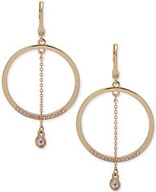 Ivanka Trump Gold-Tone Crystal Orbital Drop Earrings