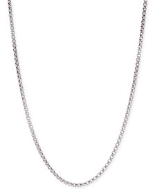 "DEGS & SAL 24"" Box Link Chain Necklace in Sterling Silver"
