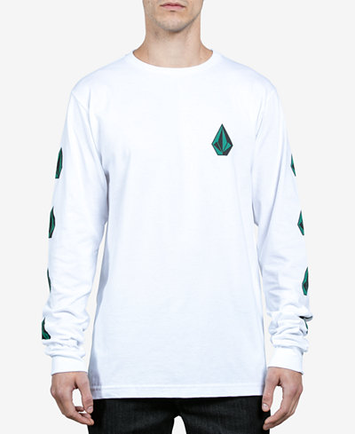 Volcom Men's Deadly Stones Long-Sleeve Logo T-Shirt - T-Shirts ...