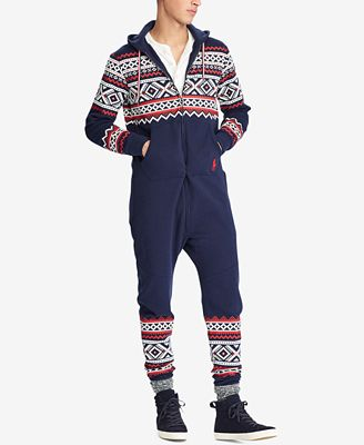 Polo Ralph Lauren Men's Fair Isle Jumpsuit - Pajamas, Lounge ...