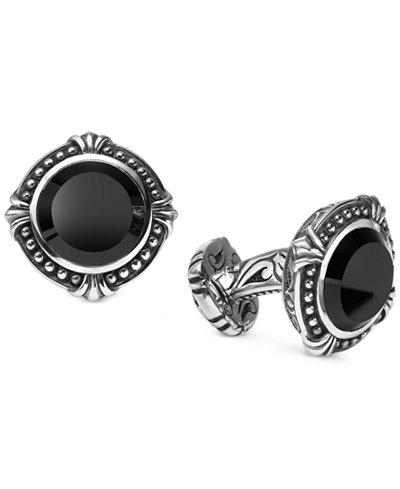Scott Kay Men's Onyx Cuff Links in Sterling Silver