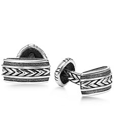 Scott Kay Men's Engraved Chevron Cuff Links in Sterling Silver