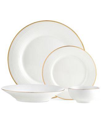 Godinger Saba Gold Dinnerware Collection  sc 1 st  Macyu0027s & Godinger CLOSEOUT! Saba Gold 16-Pc. Dinnerware Set Service for 4 ...