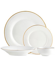 CLOSEOUT! Godinger Saba Gold 16-Pc. Dinnerware Set, Service for 4