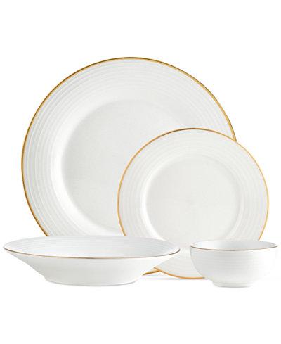 CLOSEOUT! Godinger Saba Gold 16-Pc. Dinnerware Set, Service for 4