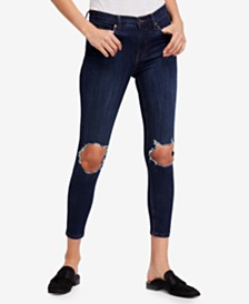 Free People Busted Knee Skinny Jeans