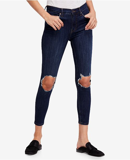 7de4f02f4f4 Free People Busted Knee Skinny Jeans & Reviews - Jeans - Women ...