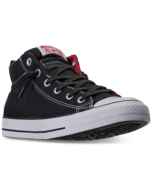 eb3fca534d1dc5 ... Converse Men s Chuck Taylor All Star Street Mid Casual Sneakers from  Finish ...