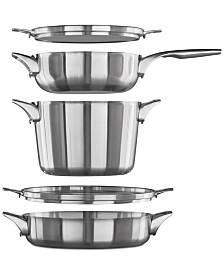 Calphalon Premier 5-Pc. Space-Saving Supper Set