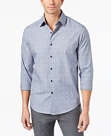 Tasso Elba Men's Piola Plaid-Print Shirt, Created for Macy's