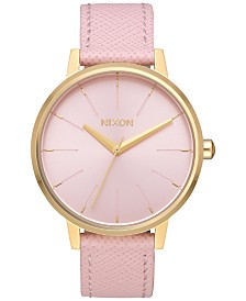 Nixon Women's Kensington Leather Strap Watch 37mm