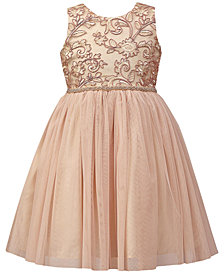 Jayne Copeland Embroidered Mesh Ball Gown, Little Girls