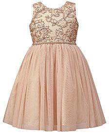 Jayne Copeland Embroidered Mesh Ball Gown, Little Girls