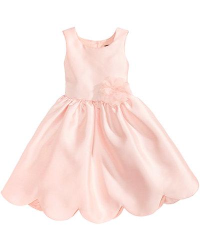 Pink Amp Violet Satin Scalloped Hem Dress Little Girls