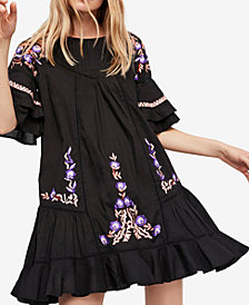 Free People Pavlo Cotton Embroidered Dress