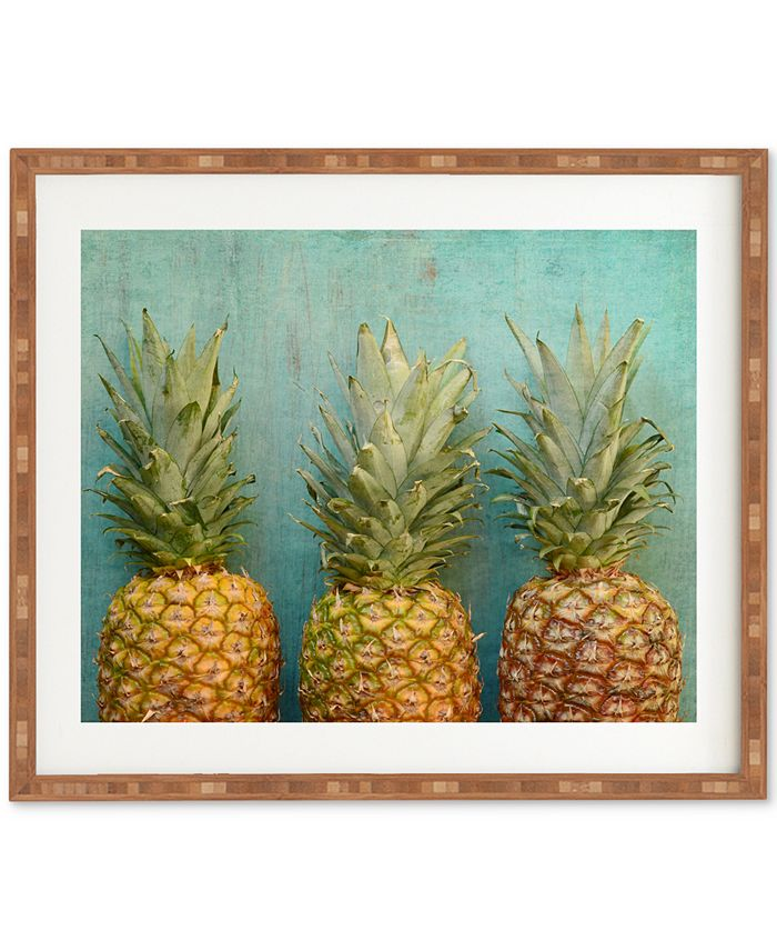 Deny Designs - Olivia St Claire Tropical Bamboo Framed Wall Art