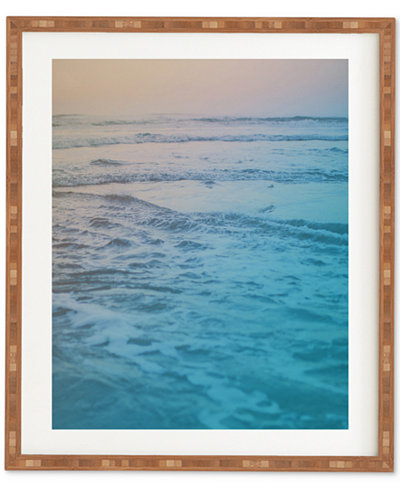 Deny Designs Leah Flores Cotton Candy Waves Bamboo Framed Wall Art