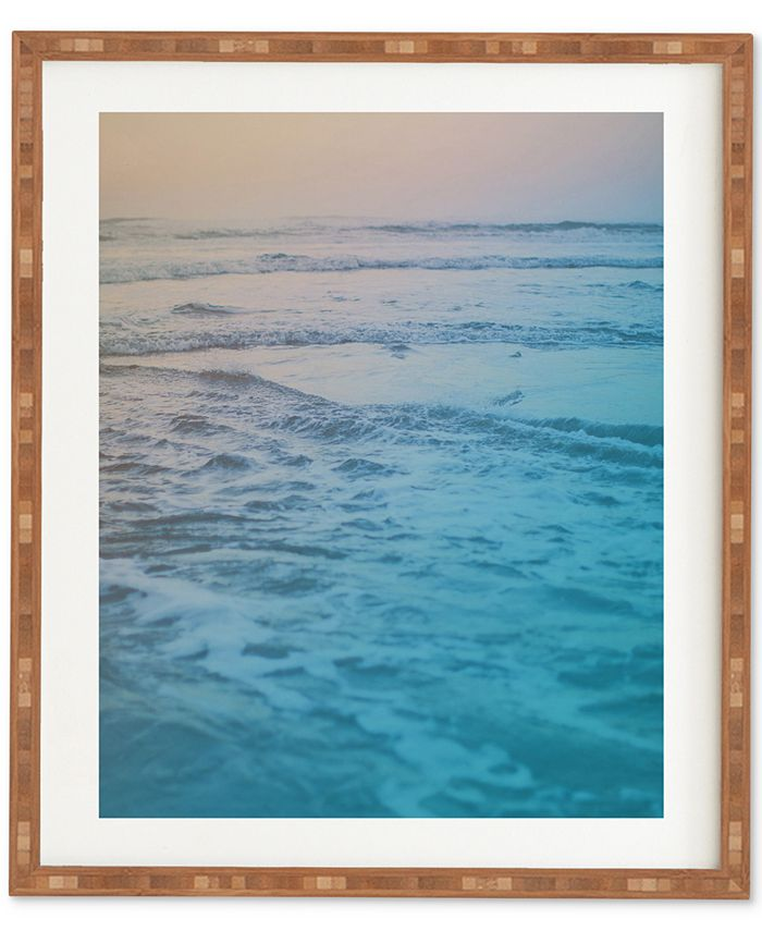 Deny Designs - Leah Flores Cotton Candy Waves Bamboo Framed Wall Art