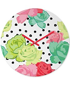 Deny Designs Dash And Ash The Rose Away Round Clock