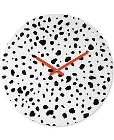 Deny Designs Rebecca Allen Miss Monroes Dalmatian Round Clock