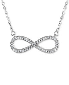 Diamond Infinity Pendant Necklace (1/10 ct. t.w.) in 10k White Gold