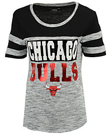 5th & Ocean Women's Chicago Bulls Space Dye Foil T-Shirt