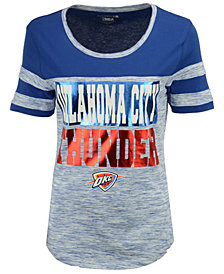 5th & Ocean Women's Oklahoma City Thunder Space Dye Foil T-Shirt