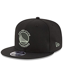 New Era Golden State Warriors Black on Shine 9FIFTY Snapback Cap