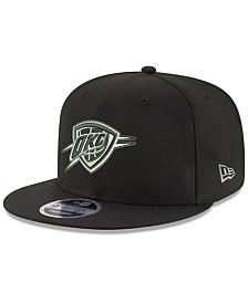 New Era Oklahoma City Thunder Black on Shine 9FIFTY Snapback Cap