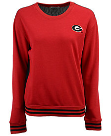 NUYU Women's Georgia Bulldogs Mesh Back Sweatshirt