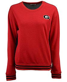 NUYU Women's Georgia Bulldogs Mesh Back Sweatshirt