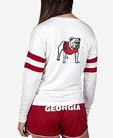 NUYU Women's Georgia Bulldogs Long Sleeve Crew Sweatshirt