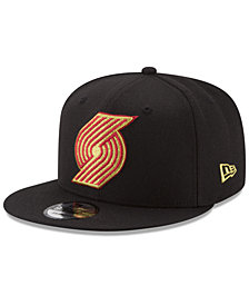 New Era Portland Trail Blazers Gold on Team 9FIFTY Snapback Cap
