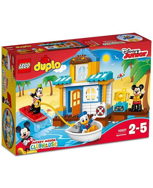 Lego Duplo 48 Pc Disney Mickey Friends Beach House 10827