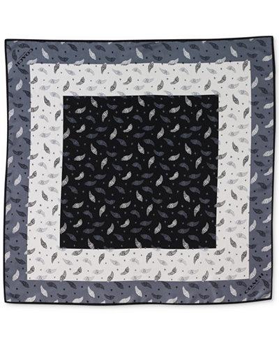COACH Feather Silk-Twill Square Scarf